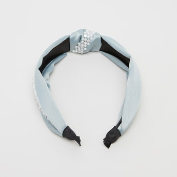 Embellished Hair Band with Knot Detail