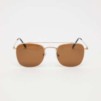 Full Rim Square Sunglasses with Nose Pads and Temple Tips