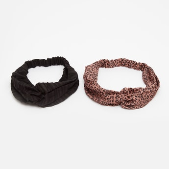 Set of 2 - Assorted Twisted Knot Hair Band