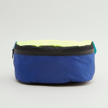 Colour Block Fanny Pack with Zip Closure