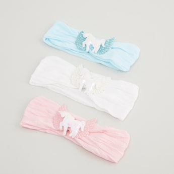 Set of 3 - Applique Detail Headbands