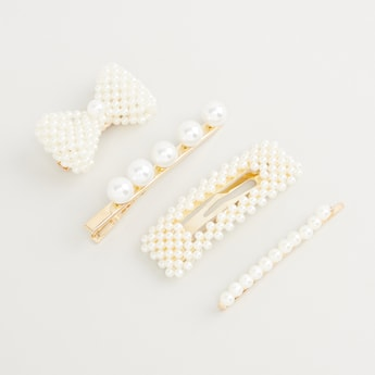 Set of 4 - Embellished Hairpins