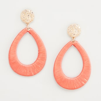 Textured Earrings with Pushback Closure