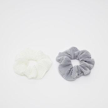 Set of 2 - Textured Elastic Hair Ties