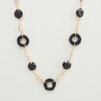 Embellished Necklace with Lobster Clasp