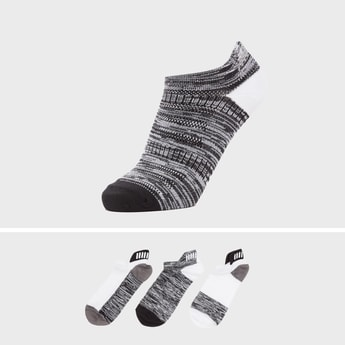 Set of 3 - Abstract Print Ankle Length Sports Socks