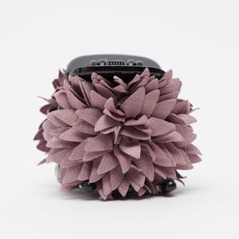 Floral Applique Detail Hair Clamp