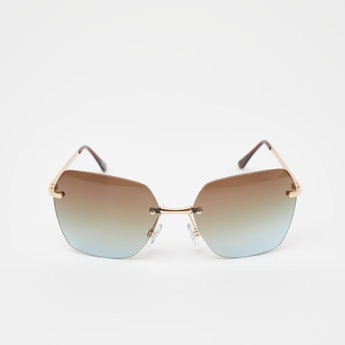 Rimless Sunglasses with Nose Pads