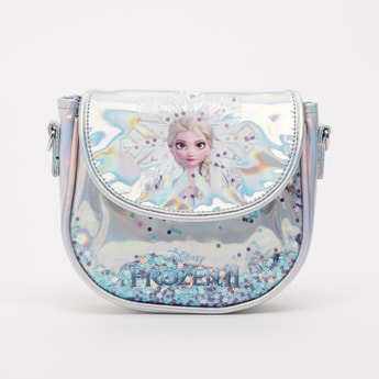 Elsa Print Crossbody Bag with Detachable Strap
