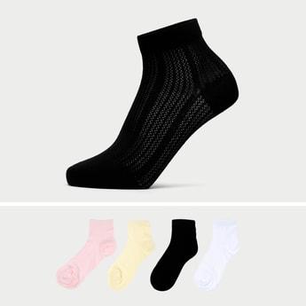 Pack of 4 - Solid Ankle Length Socks