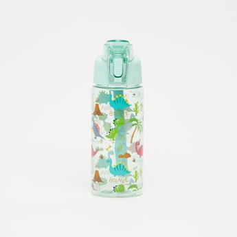 Printed Water Bottle with Spout and Flip Lid - 550 ml