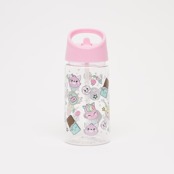 Printed Water Bottle with Flip Spout