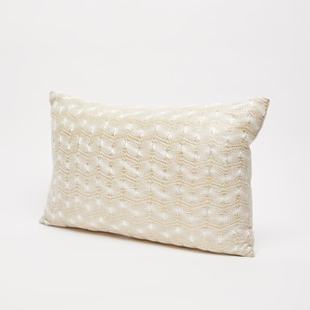 Textured Filled Cushion - 50x35 cms