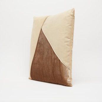 Colour Block Filled Cushion - 45x45 cms