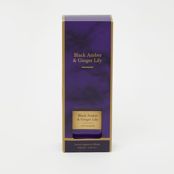 Black Amber and Ginger Lily Reed Diffuser - 7x4x10 cms