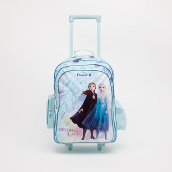 Frozen 2 Print Trolley Backpack with Retractable Handle - 18 Inches