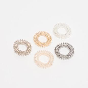 Set of 5 - Elastic Spiral Round Bands