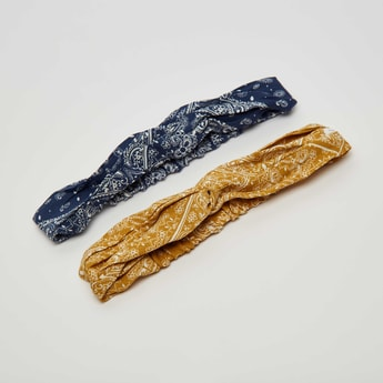 Set of 2 - Paisley Print Hairband