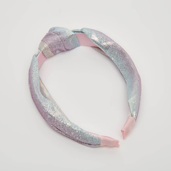 Textured Hairband with Glitter Detail