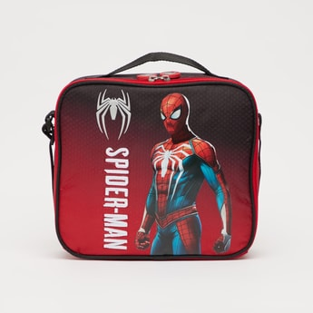 Spider-Man Print Lunch Bag with Adjustable Strap