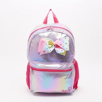 JoJo Siwa Glitter Accent Backpack with Adjustable Straps