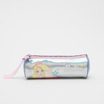 Barbie Print Pencil Case with Zip Closure