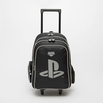 PlayStation Print Trolley Backpack with Retractable Handle - 18 Inches