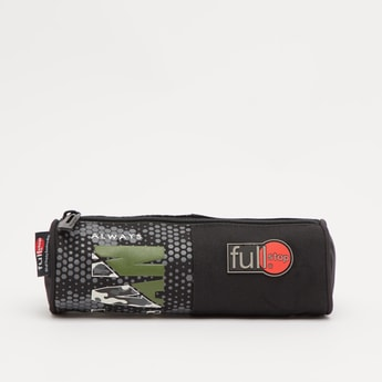 Printed Pencil Case with Zip Closure