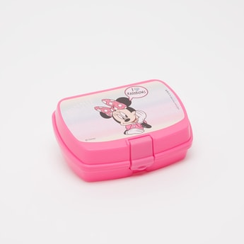 Minnie Mouse Print Lunch Box with Clip Closure
