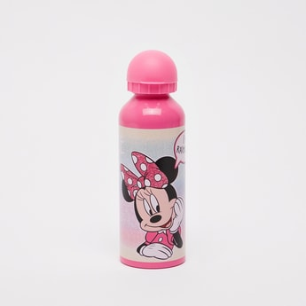Minnie Mouse Print Water Bottle with Cap - 500 ml