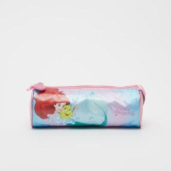 Princess Print Pencil Case with Zip Closure