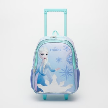 Elsa Print Trolley Backpack with Retractable Handle - 16 Inches