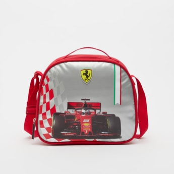 Ferrari Print Lunch Bag with Adjustable Strap