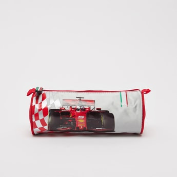 Ferrari Print Pencil Case with Zip Closure