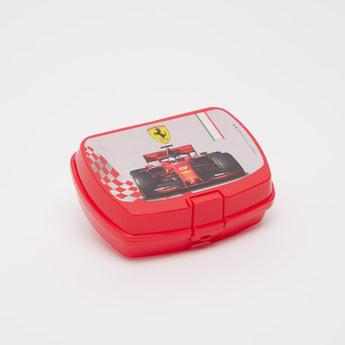 Ferrari Print Lunch Box with Clip-On Closure