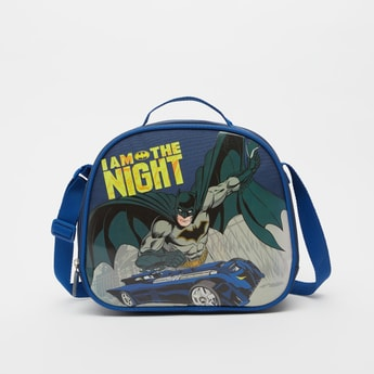 Batman Print Lunch Bag with Adjustable Strap