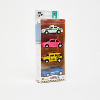 مجموعة ألعاب سيارات 4 قطع