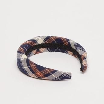 ربطة شعر بطبعات كاروهات