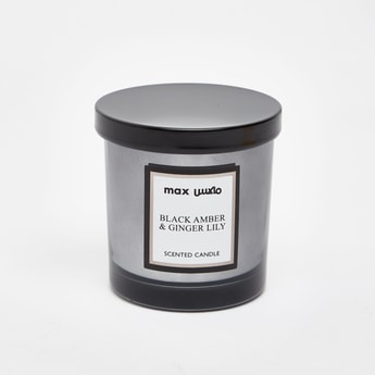 Black Amber and Ginger Lily Scented Jar Candle