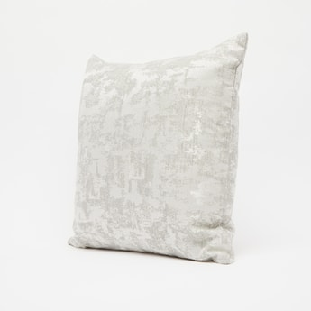 Textured Filled Cushion with Zip Closure - 43x43 cms