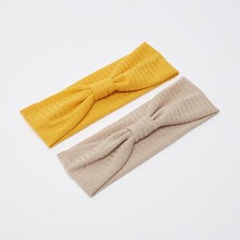 شريطة شعر بارزة الملمس بعقدة أمامية - طقم من قطعتين