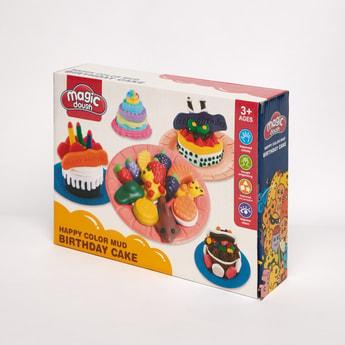 طقم ألعاب عجين تشكيل كعك عيد ميلاد ملوّن من ماجيك