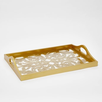 Serving Tray with Cutout Handles - 40x30 cms