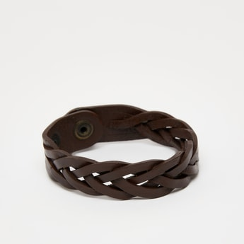 Solid Bracelet with Press Button Closure