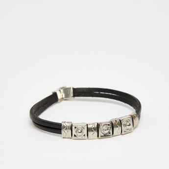 Textured Wristband with Foldover Clasp