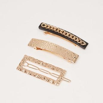 Set of 3 - Assorted Barrette Clip