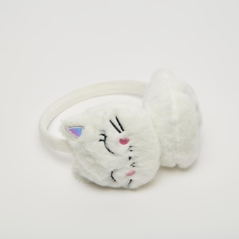 Cat Themed Plush Earmuff