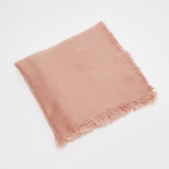 Solid Scarf with Frayed Edges