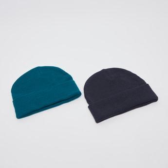 قبعة كاب بيني بارزة الملمس- طقم من قطعتين