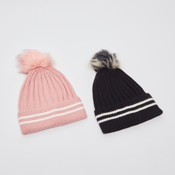 Set of 2 - Knitted Beanie Cap